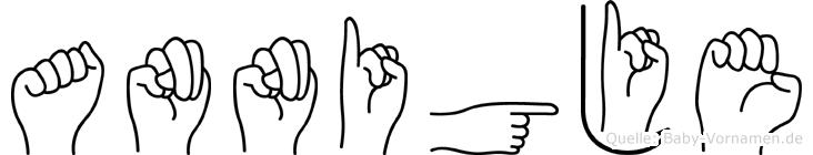 Annigje im Fingeralphabet der Deutschen Gebärdensprache
