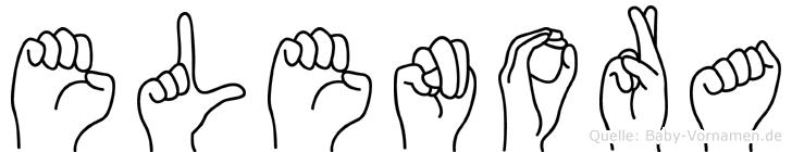 Elenora im Fingeralphabet der Deutschen Gebärdensprache
