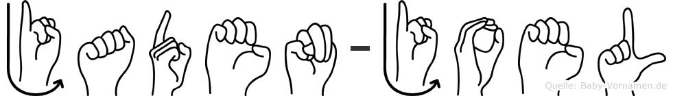 Jaden-Joel im Fingeralphabet der Deutschen Gebärdensprache