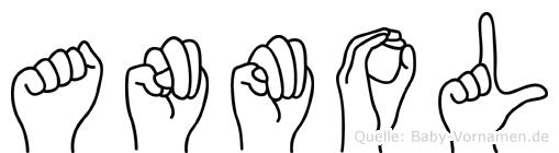 Anmol in Fingersprache für Gehörlose