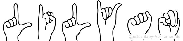 Lilyan in Fingersprache für Gehörlose