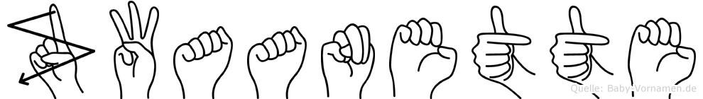 Zwaanette im Fingeralphabet der Deutschen Gebärdensprache