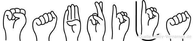 Sabrija im Fingeralphabet der Deutschen Gebärdensprache