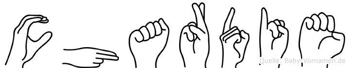 Chardie in Fingersprache für Gehörlose