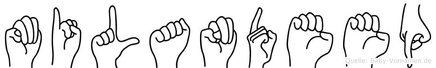 Milandeep im Fingeralphabet der Deutschen Gebärdensprache