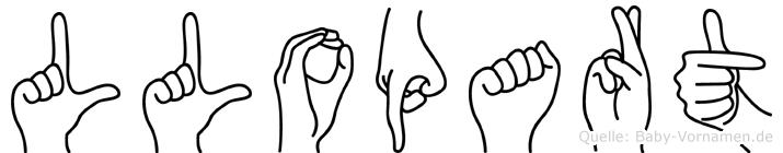 Llopart im Fingeralphabet der Deutschen Gebärdensprache