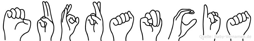 Eufrancia in Fingersprache für Gehörlose