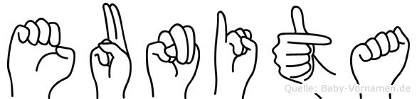 Eunita in Fingersprache für Gehörlose