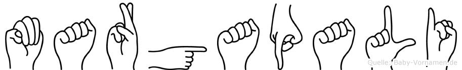 Margapali in Fingersprache für Gehörlose