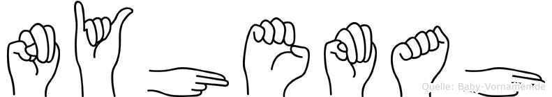 Nyhemah in Fingersprache für Gehörlose