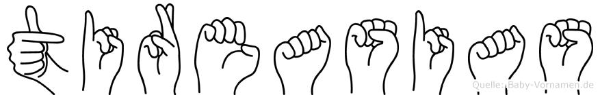 Tireasias in Fingersprache für Gehörlose
