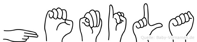 Hemila im Fingeralphabet der Deutschen Gebärdensprache