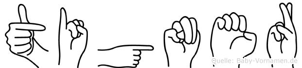 Tigner in Fingersprache für Gehörlose