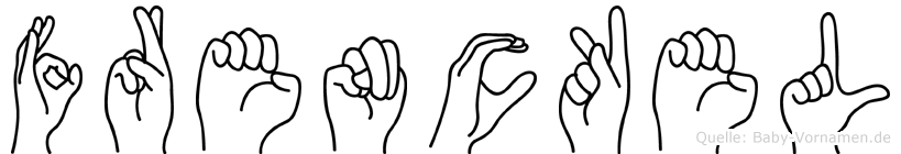 Frenckel in Fingersprache für Gehörlose