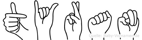 Tyran in Fingersprache für Gehörlose