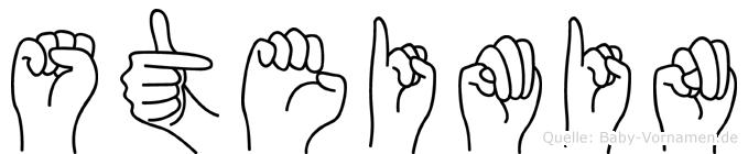 Steimin im Fingeralphabet der Deutschen Gebärdensprache