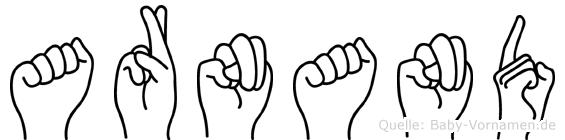 Arnand im Fingeralphabet der Deutschen Gebärdensprache