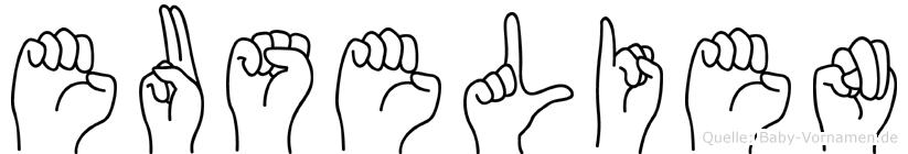 Euselien im Fingeralphabet der Deutschen Gebärdensprache