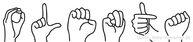 Olenta in Fingersprache für Gehörlose