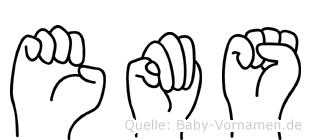 Ems in Fingersprache für Gehörlose