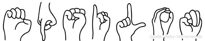 Epsilon in Fingersprache für Gehörlose
