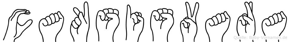 Caksisvara im Fingeralphabet der Deutschen Gebärdensprache