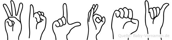 Wilfey in Fingersprache für Gehörlose