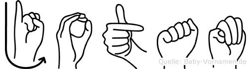 Jotam im Fingeralphabet der Deutschen Gebärdensprache