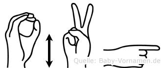 Övgü im Fingeralphabet der Deutschen Gebärdensprache