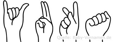 Yuka im Fingeralphabet der Deutschen Gebärdensprache