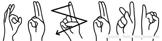 Fuzuki in Fingersprache für Gehörlose