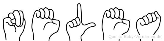 Nelea im Fingeralphabet der Deutschen Gebärdensprache