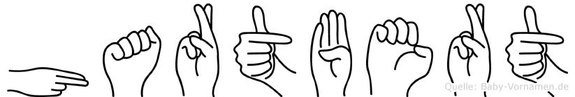 Hartbert im Fingeralphabet der Deutschen Gebärdensprache