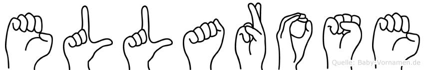 Ellarose im Fingeralphabet der Deutschen Gebärdensprache