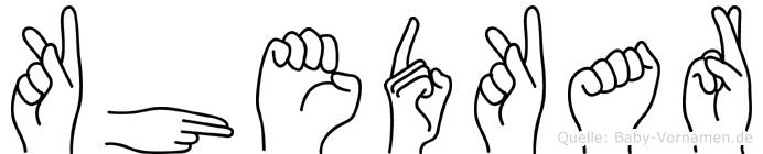 Khedkar in Fingersprache für Gehörlose