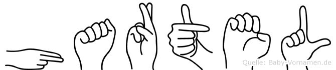 Hartel im Fingeralphabet der Deutschen Gebärdensprache