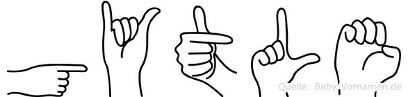 Gytle in Fingersprache für Gehörlose