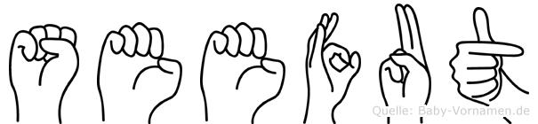 Seefut im Fingeralphabet der Deutschen Gebärdensprache