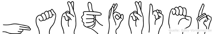Hartfried im Fingeralphabet der Deutschen Gebärdensprache