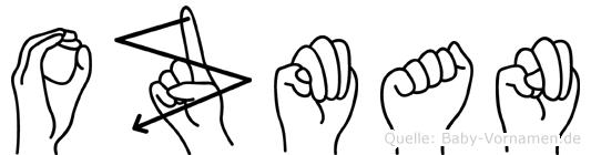 Ozman im Fingeralphabet der Deutschen Gebärdensprache