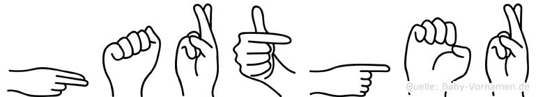 Hartger im Fingeralphabet der Deutschen Gebärdensprache