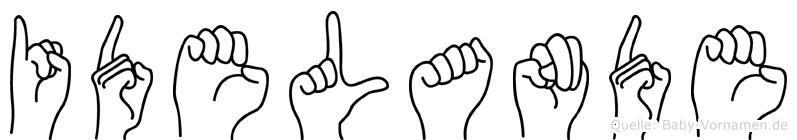 Idelande im Fingeralphabet der Deutschen Gebärdensprache