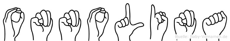Onnolina in Fingersprache für Gehörlose
