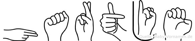 Hartje im Fingeralphabet der Deutschen Gebärdensprache