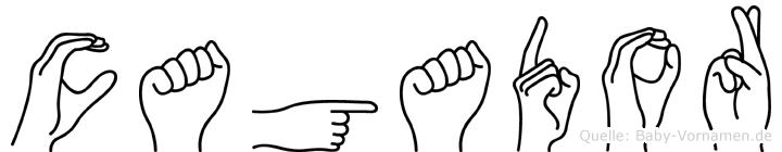 Cagador im Fingeralphabet der Deutschen Gebärdensprache