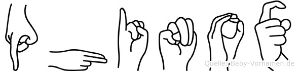 Phinox in Fingersprache für Gehörlose