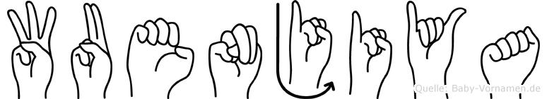Wuenjiya in Fingersprache für Gehörlose