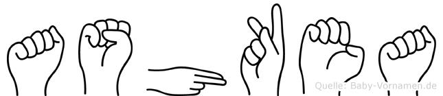 Ashkea in Fingersprache für Gehörlose
