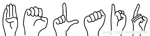 Belaid im Fingeralphabet der Deutschen Gebärdensprache