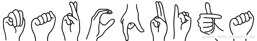 Marcquita im Fingeralphabet der Deutschen Gebärdensprache